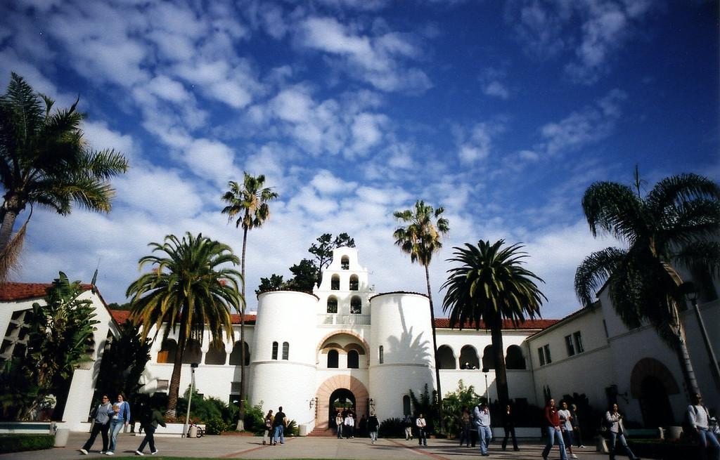 Distance view of Hepner Hall.